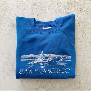 💙 VINTAGE San Francisco CA Sweatshirt size M - L